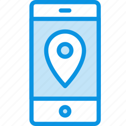gps, iphone, location, map, navigation, phone, smartphone, track icon
