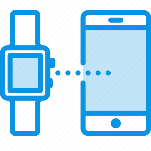 connect, mobile, smart watch icon