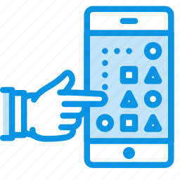 game, gesture, hand, logic, mobile, phone, play, touch icon