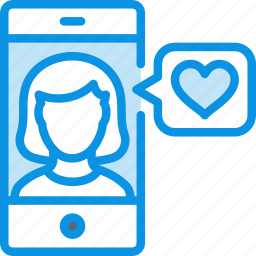 app, female, heart, like, love, match, phone, woman icon