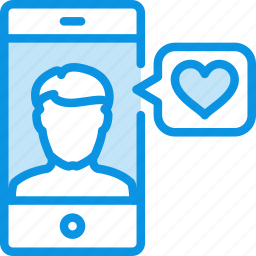 app, heart, like, love, male, man, match, phone icon