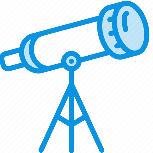 explore, find, look, sky, stars, telescope, watch icon