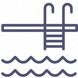 pool, stairs, swiming, water icon