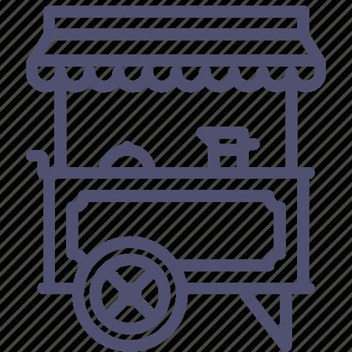 drink, food, hotdog, stand, wagon icon