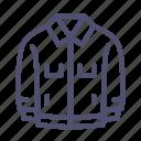 denim, jacket, windbreaker icon