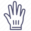 accessories, glove, hand icon