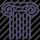 ancient, column, greek icon