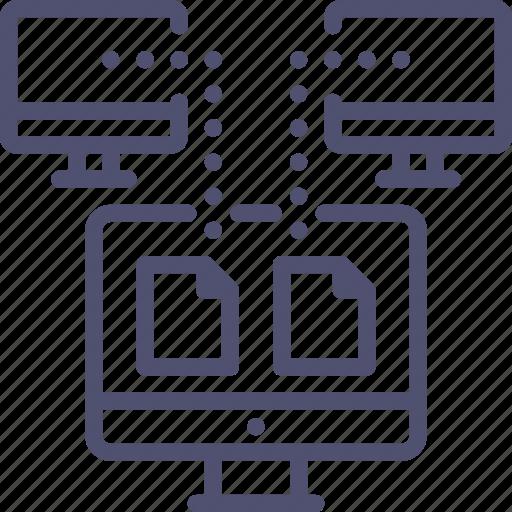 backup, copy, data, digital, network, sync, synchronization, synchronize, transfer icon
