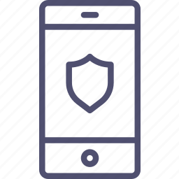 iphone, mobile, phone, protection, safe, security, shield, smartphone icon
