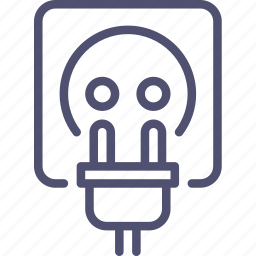 cord, electric, electricity, plug, power, socket icon