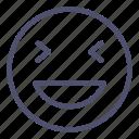 emoji, face, grinning