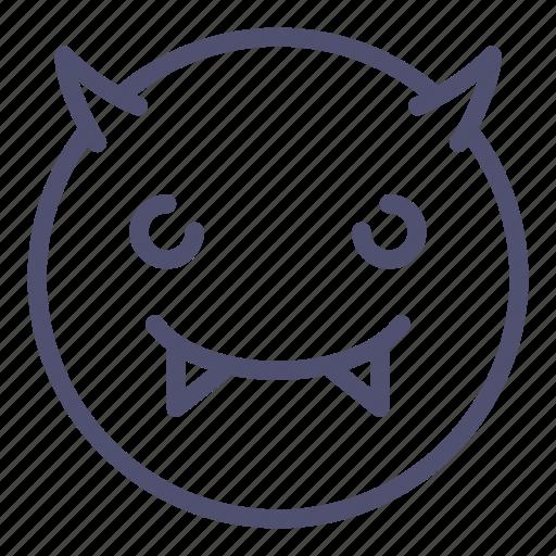 Devil, emoji, smile icon - Download on Iconfinder