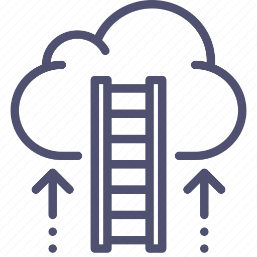 business, career, cloud, finance, growth, ladder, rise icon