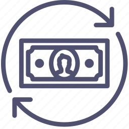 business, cash, consumption, cycle, finance, flow, money, transfer icon