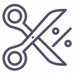 coupun, discount, finance, offer, percent, price, sale, scissors icon