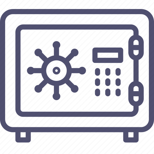 deposit, locked, money, safe, secure, strongbox icon