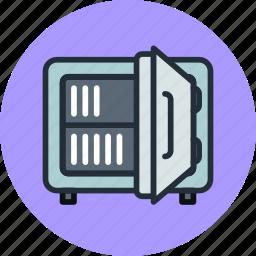 deposit, money, open, safe, strongbox icon