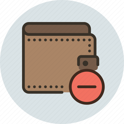 cash, delete, money, pay, payment, remove, wallet icon