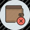delete, money, payment, remove, wallet icon