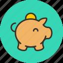 cash, money, moneybox, piggy bank, savings icon