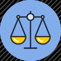 balance, compare, justice, law, scales, trade icon