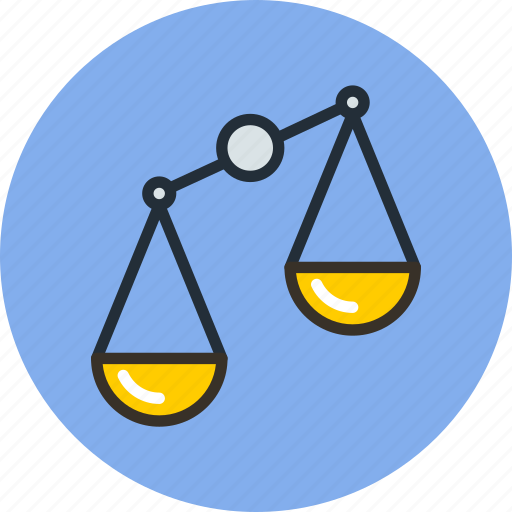compare, disbalance, justice, law, scales, trade icon