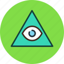 all, eye, pyramid, seeing icon