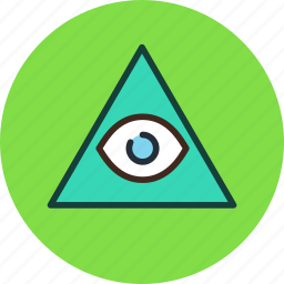 all, eye, pyramid, seeing icon