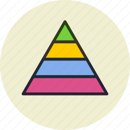 career, finance, management, pyramid, structure icon