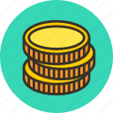 cash, coins, currency, finance, gold, money