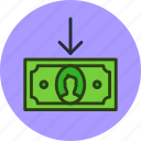 cash, cashin, currency, finance, in, money icon