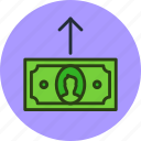 cash, cashout, currency, finance, money, out icon