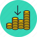 cash, cashin, coin, currency, finance, gold, in, money icon