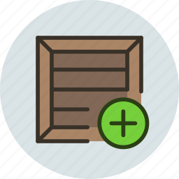 add, box, bundle, cargo, crate, package, parcel, product, shipping icon