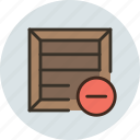 bundle, cargo, crate, delete, product, remove