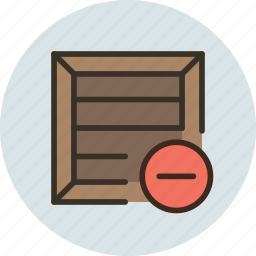 box, bundle, cargo, crate, delete, package, parcel, product, remove, shipping icon