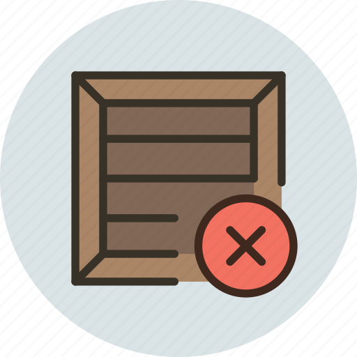 box, cargo, crate, delete, package, parcel, product, remove, shipping icon