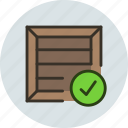 box, cargo, check, crate, package, parcel, product, shipping icon