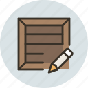 box, crate, edit, package, parcel, product, shipping icon
