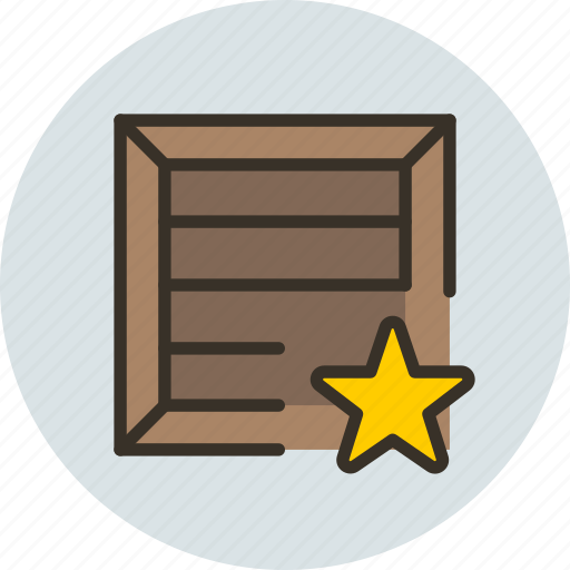 box, crate, favorite, package, parcel, product, shipping icon