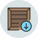 box, crate, download, package, parcel, product, shipping icon