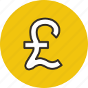 currency, finance, money, pound icon