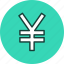 currency, finance, money, yen icon