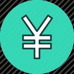 currency, finance, money, yen icon