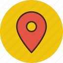 gps, location, map, pin