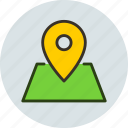 coordinate, gps, locate, location, map, marker, pin icon