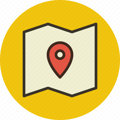 coordinate, locate, location, map, pin, place icon