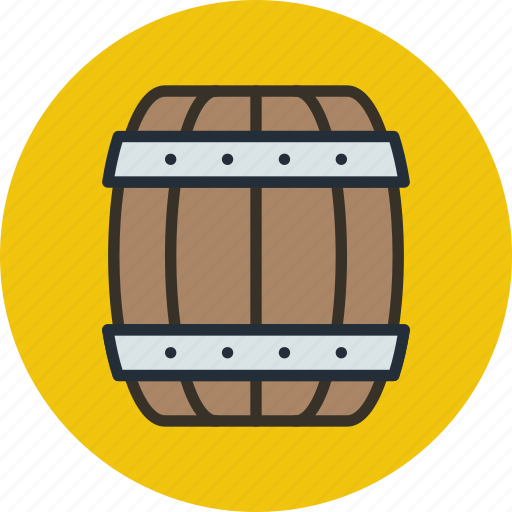 barrel, beer, marinade, marine, nautical icon