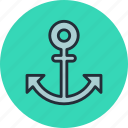 anchor, marine, nautical, ocean, sea, ship, travel icon