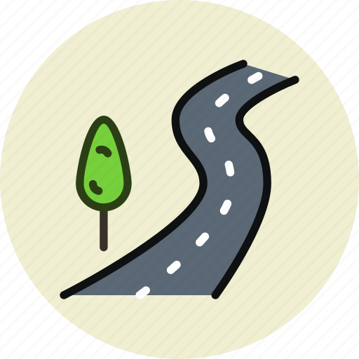 highway, road, route, travel icon